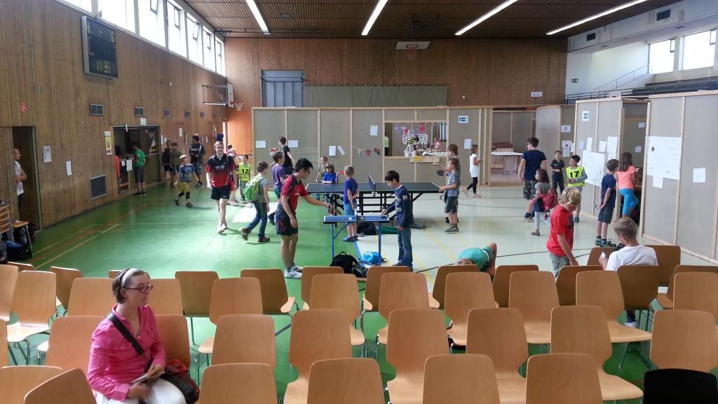 Tischtennis mit der DJK Heusweiler beim Minisaarland 2014 in Heusweiler